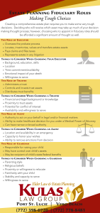 Estate Planning Fiduciary Roles [Infographic]